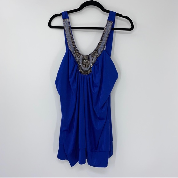 NEW Maurices Embelished Tank Top 2X